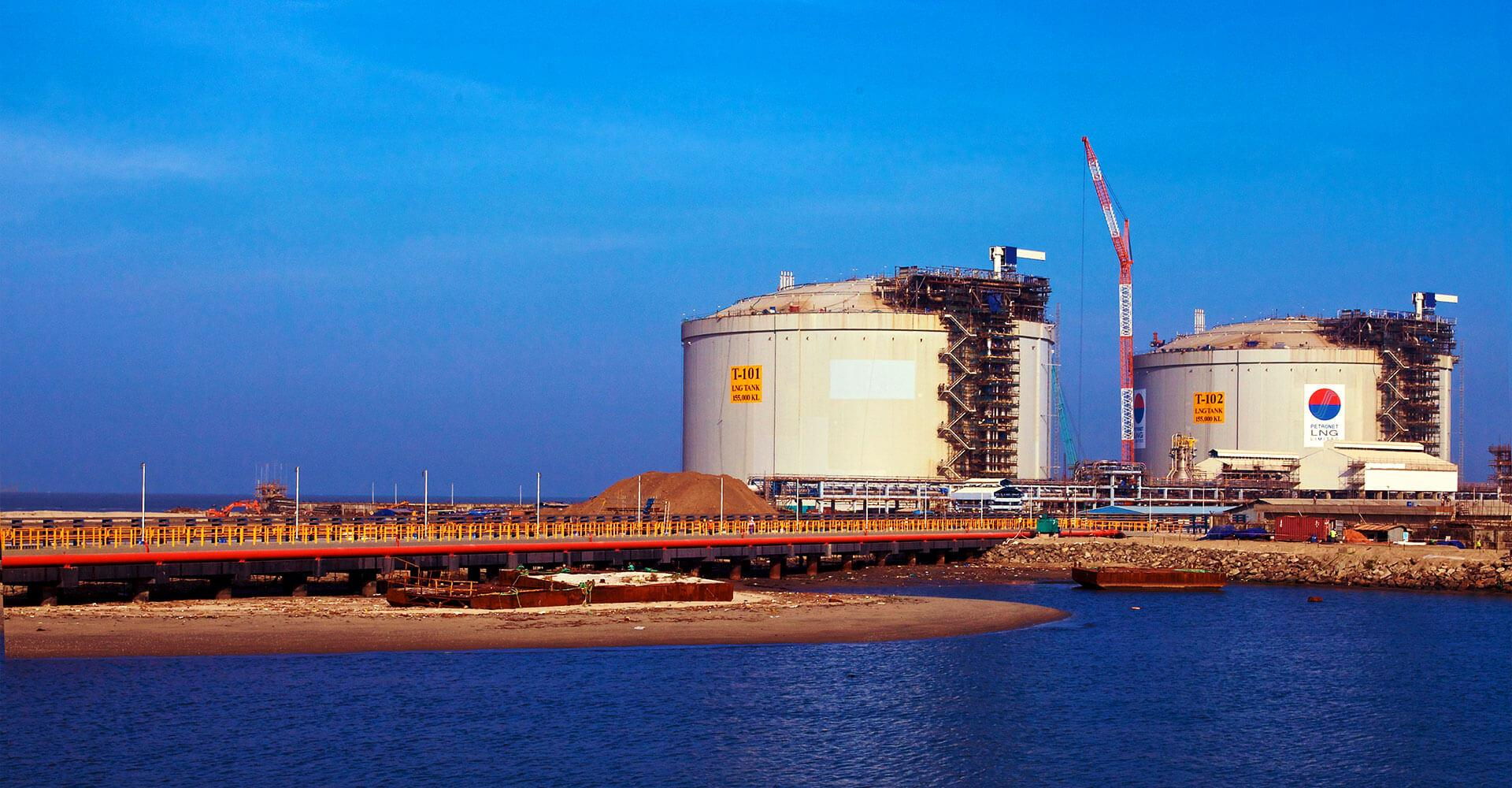 LNG Tanks, Kochi, India