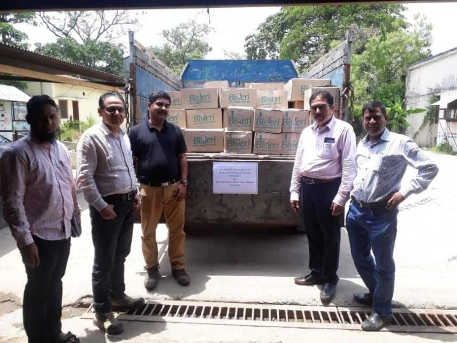 The KMRC (1674) site team sent food items, water bottles, and solar lanterns to help the distressed in Odisha because of Fani cyclone in 2019