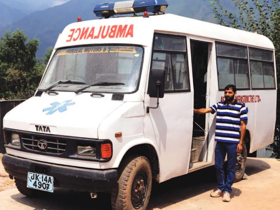 Ambulance services at Sangaldan have been supported by Afcons