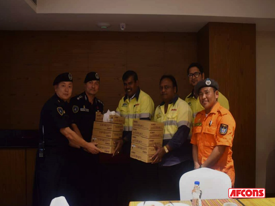 Distribution of walkie talkies to help in disaster management in Bhutan