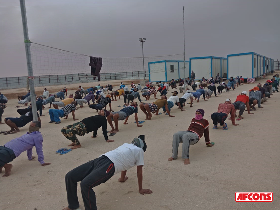 Fitness sessions organised for overall wellbeing of employees during lockdown