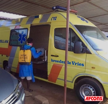 Ambulances kept on standby for emergencies afcons