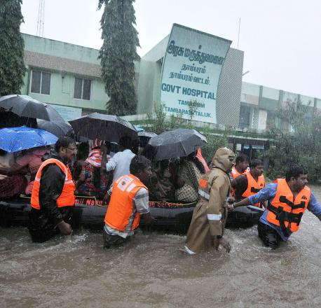 Braving incessant rains, Afconians helped Chennaites during the floods in Nov-Dec 2015