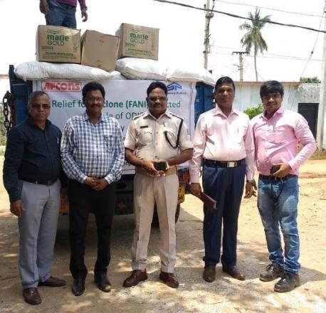 Afconians from Gopalpur site shared a truckload of food items and other essentials to help those affected by Fani cyclone in 2019