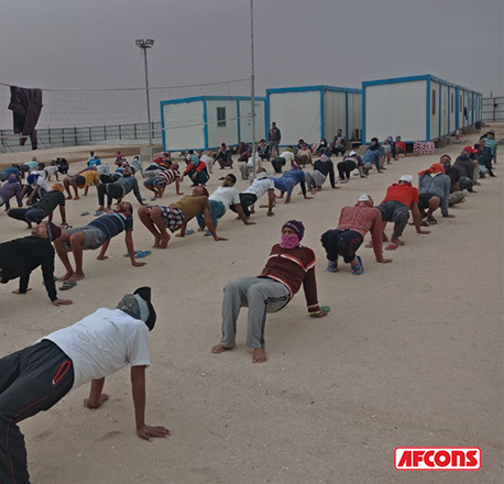 Fitness sessions organised for overall wellbeing of employees during lockdown afcons