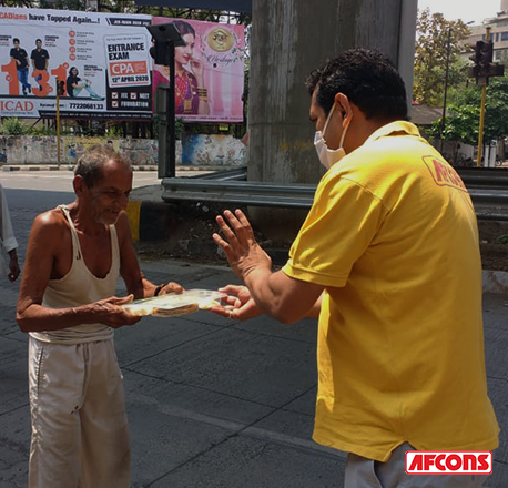 Food packets shared with the needy in Nagpur during nationwide lockdown in India